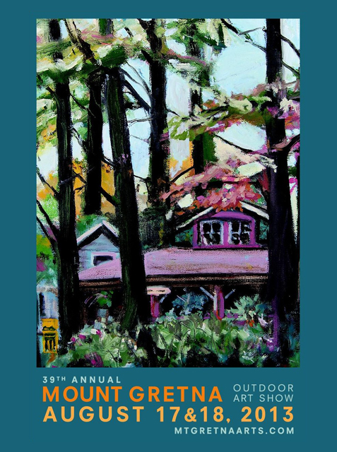 2013 Show Poster | Mount Gretna Outdoor Art Show