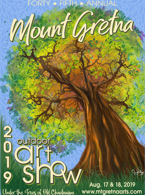 2019 Show Poster | Mount Gretna Outdoor Art Show