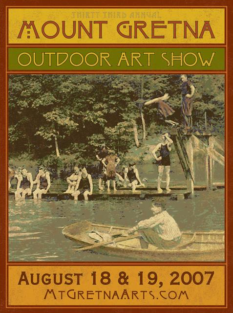 2007 Show Poster | Mount Gretna Outdoor Art Show