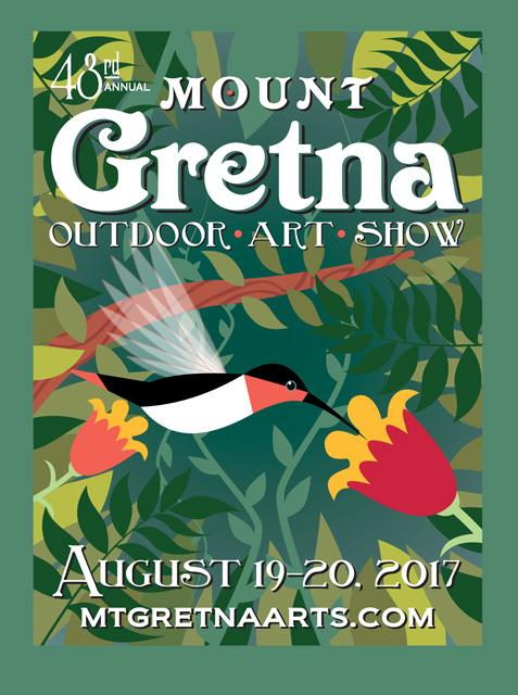 2017 Show Poster | Mount Gretna Outdoor Art Show