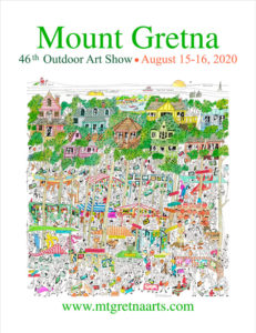 2020 Show Poster | Mount Gretna Outdoor Art Show